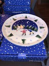 Rare Vintage Nikko Winter Wonderland Footed Cakeplate Deb Mores