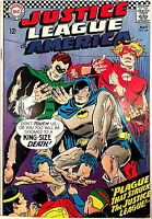 Justice League of America #44 (May 1966 DC) Excellent SILVER AGE Batman Superman