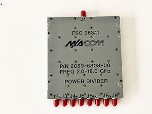 M/A-COM 2089-6808-00 Power Divider Combiner Splitter 2-18ghz 8-WAY SMA