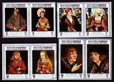 Aden Qu'aiti 1967 ** Mi.147/54 B Gemälde Paintings Lucas Cranach