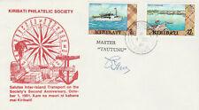 1981 Kiribati Philatelic Society cover, signed, Master Tautunu cachet, numbered