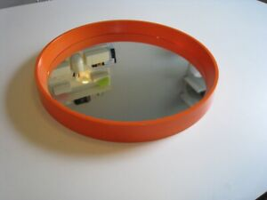 "Vintage Danish Moden Th Poss' EFTF Round Orange Hanging Mirror - 15"" for repair"