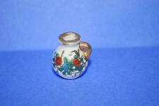 Miniature PORCELAIN   Pitcher FLOWER  DESIGN  Doll House Vintage MARKED JAPAN