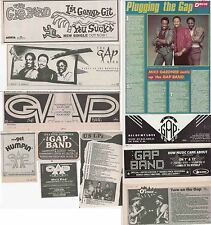 THE GAP BAND : CUTTINGS COLLECTION -adverts interview-