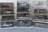 James Bond Cars Collection 007 Die-Cast Including Little Nellie, Moon Buggy etc