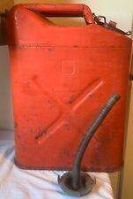Vintage Blitz Jerry Gasoline Can Usmc Dot 5l 20 5 83 With Pour Spout Amp Cap 1983