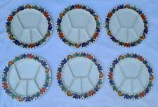 """"""" Acapulco """" Villeroy & Boch - 6 Assiettes à fondue ou tapas design plate frieze"""