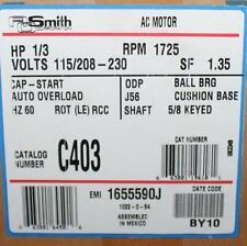 AO Smith Motor C403 1/3 HP 1725 RPM 115/208-230 Volt Cr Ref Century TN-023