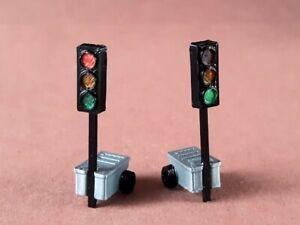 OO Gauge 1:76 Temporary Traffic Lights for Car Road Works Model Railway