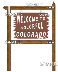 Welcome to Colorado Sign Scrapbook Embellishment Paper Die Cut Piece