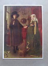 Das Ehepaar Giovanni Arnolfini von Jan van Eyck - Kunstblatt aus 1920 Bild