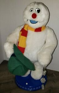 Gemmy Frosty The Snowman Christmas Animated Dancing Spinning Snowflake (READ)
