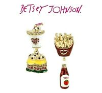Betsey Johnson Hamburger & French Fries Mismatched Earrings US Seller
