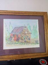 Signed Art Print WILLIAM FRANCIS BISBEE License plate garage Truckee, CA. 19/100