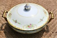 VINTAGE M NORITAKE COVERED SERVING DISH WITH LID Gold Trim
