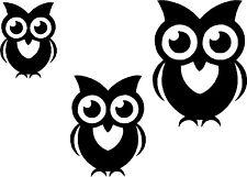 Cute Owl Bird Set Car,Van Camper Bonnet Bumper Window Wall Sticker LSB05
