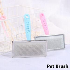 Pet Grooming Slicker Brush, Dog Cat Rabbit etc Medium Pink & Blue AU