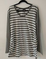 f1d940842cf6b Womens Oh Baby by Motherhood Maternity Stripe Ruched Top/Shirt - Size 2X -  NWT