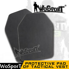 Airsoft Paintball Tactical CS Vest Back Protective Pad EVA Dummy Ballistic Plate