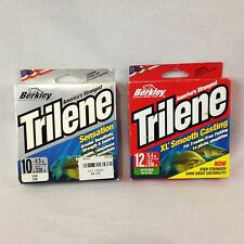 2 Spool Lot Berkley Trilene Sensation XL Smooth Casting Fishing Line