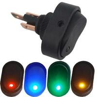 3Pin 12V 30A Blue LED Light Rocker Toggle Switch SPST ON/OFF Car Auto Boat Sales