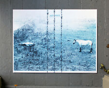 JACK WHITE concert poster Frankfurt Germany '14 by Alan Hynes white stripes