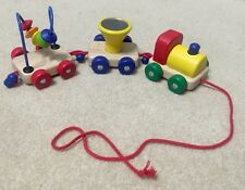 Pintoy Wooden Pull Along Activity Train by Pintoy