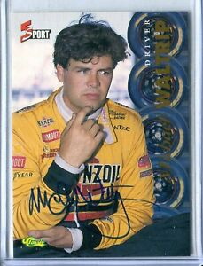 1995 Classic 5 Sport Michael Waltrip AUTO AUTOGRAPH NASCAR RACING