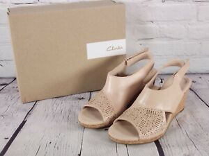 Collection by Clarks - Lafley Joy - Leather Cork Wedge Sandal - Blush Pink - 9 M