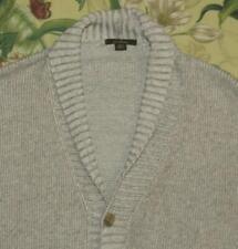 ERMENEGILDO ZEGNA Oatmeal Cardigan Shawl Collar Sweater Medium M