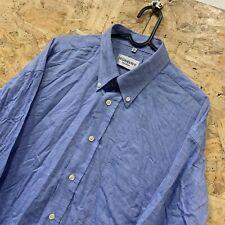 """Yves Saint Laurent YSL """"pour homme"""" Plain Blue Men's L/S Shirt 16.5"""" / 42"""" XL"""