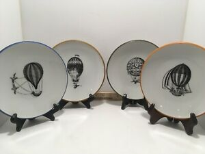 Set Of 4 Rare Neiman Marcus Various Balloon Dessert Plates Display 7.5in