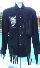 Kansai Yamamoto Corduroy and Fringe Devil Jacket SZ 12 Vintage 1980s