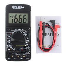 DT9205A LCD AC/DC Digital Multimeter Ammeter Resistance Capacitance Tester Meter