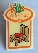 Kids Workshop Home Depot Pin Badge Collectable (E7)