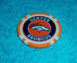 NFL DENVER BRONCOS SOUVENIR COLLECTIBLE POKER CHIP GOLF BALL MARKER