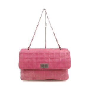 Chanel Shoulder Bag  Pinks Leather 1520595