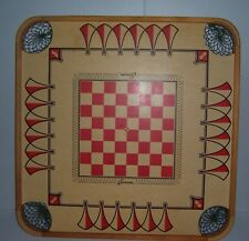 Vintage Carrom Checkers Chess & Other Game Board Deluxe Model No. 125 with Box
