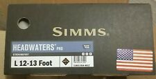 Simms Mens Headwaters Pro Waders Stocking Foot Size L 12-13 foot