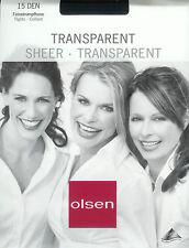 edle hauchfeine Strumpfhose, transparent - 15den, schwarz, 42-44  *olsen*