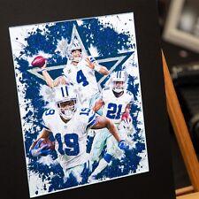 Dak Prescott #4 Ezekiel Elliott #21 Amari Cooper #19 - Dallas Cowboys - Unique A