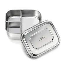 Stainless Steel Bento Lunch Box Food Containers for Kids,3 Compartment 35 oz