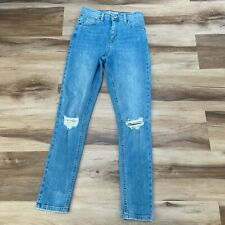 Topshop Moto Jamie Jeans Size 26 High Rise Skinny Distressed Light Wash
