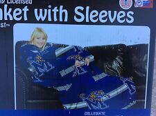 Memphis Tigers Collegiate Comfy Throw Blanket with Sleeves NEW