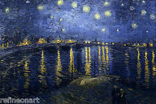 """Starry Night Over the Rhone by Vincent Van Gogh Giclee Canvas Print 16""""x20"""""""