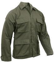 olive drab bdu shirt coat military style 4 pocket coat rothco 7837