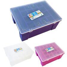 Boites de rangement violet en plastique pour la maison
