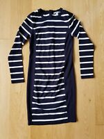 Country Road Size S Black White Stripe Midi Long Sleeve Bodycon Dress