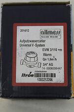 NEU! Allmess Aufputz Wasserzähler Universal V-System EVW 3/110+m warm 2014/12