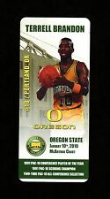 2010 TERRELL BRANDON Oregon Ducks *Mac Court Farewell* BASKETBALL CARD GIVEAWAY